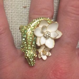 Kate Spade pave alligator ring, size 7